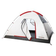 Pinning again because I think this one is my favorite. although it's 100 but it seems big enough without being too big (8L X 8W) with a rain cover and lifetime warranty Swiss Gear Alpine Peak 4 person 3 season tent
