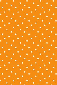 Orange and white polka dot wallpaper
