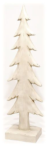 Rustic Country White Christmas Tree Holiday Home Decor