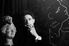 Jean Cocteau dans son appartement du 36 rue de Montpensier, 1944. by Herbert List