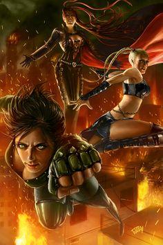 versões adulta das Meninas Super-Poderosas!