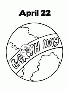 Earth Day April Coloring Page For Kids Pages Printables Free