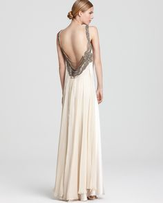 9f1d6bb8b7 ABS by Allen Schwartz - Embellished Gown with Sleeveless Cowl Back  Embellished Gown