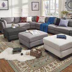 Elize Modern Linen Fabric Ottoman by INSPIRE Q