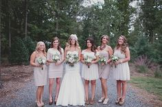 blush bridesmaid dresses   photos by Nicole Roberts   100 Layer Cake
