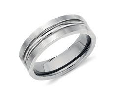 Comfort Fit Wedding Ring in Titanium #BlueNile #WeddingRing