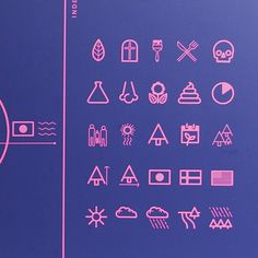 Signs and Icons for the Arboretum in Gothenburg by Anders Wallner, via Behance