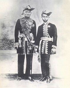 King Mongkut and heir Prince Chulalongkorn