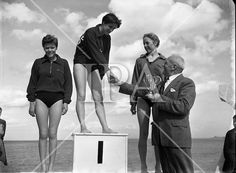 1958 - Swimming Championships at Blackrock History Photos, Photo Archive, More Photos, Ireland, Swimming, Fine Art, Film, Gallery, Artist
