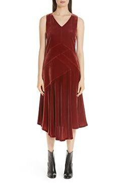 1c105551791 LAFAYETTE 148 NEW YORK Designer Ashlena Asymmetrical Velvet Dress Lafayette  148