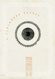 "Kubrick's ""A Clockwork Orange"" poster redesign by Williams and Lim for Rex Cinema."