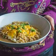 Roy Choi shares his take on the ubiquitous Korean staple of ramen. He poaches an egg and melts American cheese on top of the springy noodles. Read more!