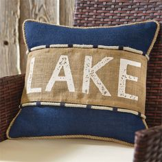 Lake Pillow Navy