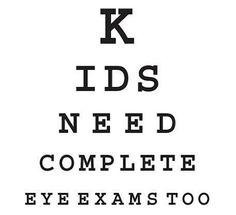 It's never too early for your child's first eye exam!