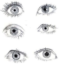 I love drawing eyes! Simple ones like these will help me with mine! Eye Sketch, Drawing Sketches, Art Drawings, Realistic Eye Drawing, Drawing Techniques, Art Tutorials, Painting & Drawing, Amazing Art, Art Reference