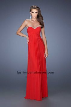 LF19663 Open Back Strapless Sweetheart Beaded Prom Gown