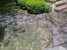 Concrete Walkway Molds | Mattern Masonry, Rochester, NY | Stamped Concrete Walkway Gallery