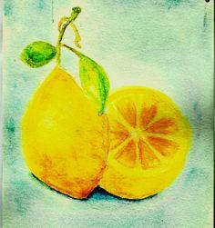 Still Life watercolor - Lemon Vintage Style by moonfluff.deviantart.com on @deviantART