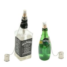 Tiki Torch Kit ,Torch Wicks and Brass Wick Mount , Table Top Torch Lantern Kit 8 inch ,bottle not included ) Tiki Torch Wicks, Wine Bottle Tiki Torch, Tiki Torches, Jack Daniels No 7, Tennessee Whiskey, Cleaning Supplies, Lanterns, Brass, Kit
