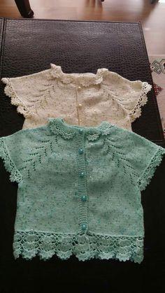 Alinti Crochet Girls, Crochet For Kids, Knit Crochet, Easy Crochet Patterns, Knitting Patterns, Baby Girl Sweaters, Yarn Shop, Baby Cardigan, Vintage Patterns