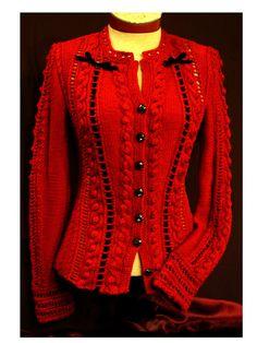 Ravelry: Ruby pattern by Joan McGowan-Michael. $ Steampunk jacket.