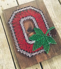 MADE TO ORDER Ohio State Buckeyes Block O by AllWrappedUpDecor