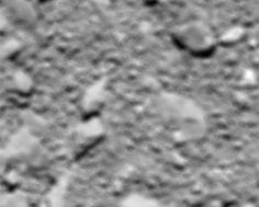 This blurry image is the last picture sent back by Rosetta before impact
