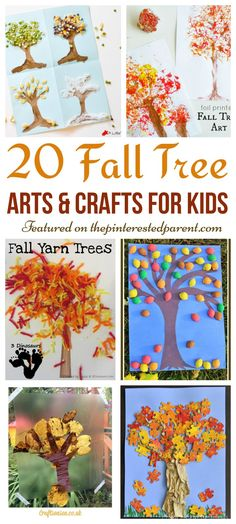 20 Beautiful Fall Tree Arts & Crafts Ideas for kids - Autumn crafts for…