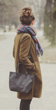 #winter #fashion / coat + scarf