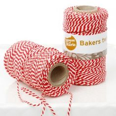 Bakers Twine Ficelle Bi-Colore Rouge