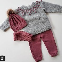 - Knit and Crochet for kids babysachen # Knitting For Kids, Baby Knitting Patterns, Crochet For Kids, Baby Patterns, Knit Crochet, Baby Pullover, Baby Cardigan, Baby Vest, Knitted Baby Clothes