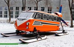 Propeller bus on skis, of course.