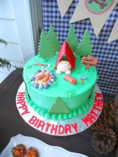 Cake at a Camping Party #camping #party