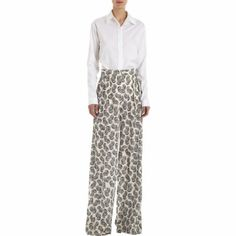 Stella McCartney Silk Print Pants With Double Pleats at Barneys.com