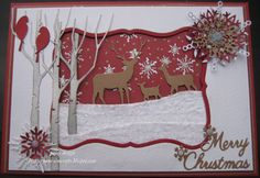 Xmas Card...nice but doesn't give the sources for the dies... deer are Memory Box