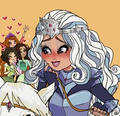 for the blushing meme: Darling Charming Please. Ever After High, Monster High Art, Raven Queen, Cute Icons, Animation Series, Disney And Dreamworks, Cartoon Kids, Character Design Inspiration, Girls Characters