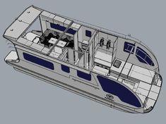 Der Wassercaravan verbindet Camper und Hausboot in Einem! Dieser Wassercamper ist trailerbar, einmalig in Europa und an Land und auf dem Wasser zu Hause.