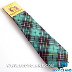 Clan MacAlpine Ancient Tartan Tie
