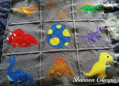 Ravelry: Dinosaur Graphs pattern by Heather Craig Crochet Dinosaur Patterns, Graph Crochet, Afghan Crochet Patterns, Crotchet Patterns, Crocheting Patterns, C2c Crochet, Crochet Alphabet, Crochet Letters, Pattern Baby