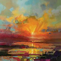 "Art Group Leinwandbild ""Optimism Sunrise Study"" von Scott Naismith, Kunstdruck"
