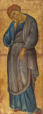 The Mourning Saint John the Evangelist / San Juan Evangelista de luto // c. // Master of the Franciscan Crucifixes (Umbrian, active and // © National Gallery of Art Religious Icons, Religious Art, San Juan Evangelista, St John The Evangelist, Byzantine Art, Saint Jean, Italian Painters, National Gallery Of Art, Orthodox Icons