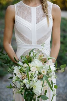 Blaire's friend surprised her on the big day with a gorgeous wedding bouquet. Photograph by Jihan Cerda