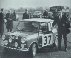 Hopkirk and the famous #37 Mini rom the 1964 Monte Carlo