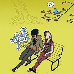 ilustraciones-adiccion-moviles- (11). Para saber mucho más sobre sostenibilidad social visita www.solerplanet.com