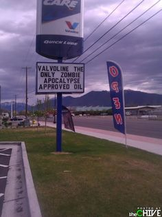 Brought to you by Valvoline: Official sponsor of The Zombie Apocalypse. (from Geek Chic: JB pop-Eggs @ pinterest.com/...)