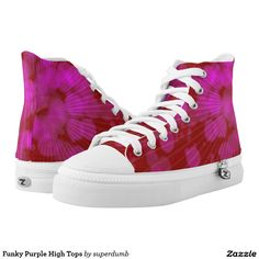 Funky Purple High Tops Printed Shoes you at www.zazzle.com/superdumb