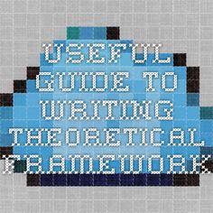 useful guide to writing Theoretical Framework