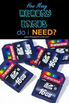 How Many Memory Cards Do I Need?