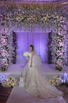 Bridal Portrait Under the Chuppah. Las Vegas Destination Wedding. Image by AltF Photography.