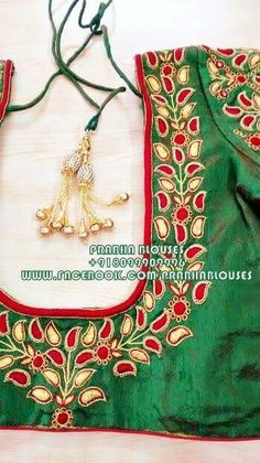Wedding Saree Blouse Designs, Pattu Saree Blouse Designs, Choli Designs, Embroidery Designs Free Download, Embroidery Neck Designs, South Indian Blouse Designs, Bridal Sarees South Indian, Designer Blouse Patterns, Blouse Models